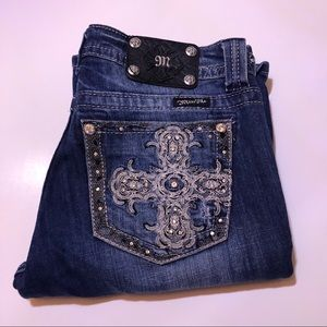 Miss Me Jeans - Blue Cross Diamond Boot Cut